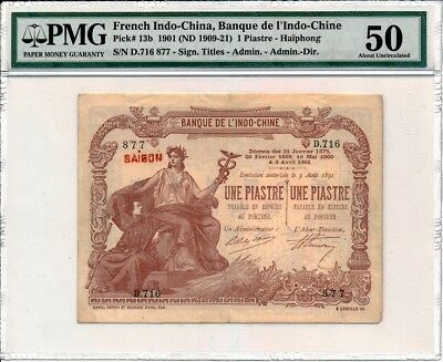 Banque de l'Indo-Chine French Indo China  1 Piastre-Haïphong 1901  PMG  50