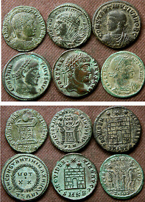 6 LATER ROMAN AE COINS (Higher grade)