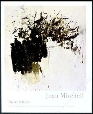 2002 Joan Mitchell painting NYC gallery show print ad