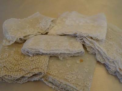 A Beautiful collection Antique Bridal Lace Lenghts c.1890
