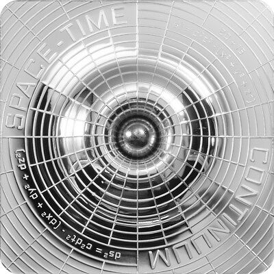 2015 $2 Cook Islands - SPACE TIME CONTINUUM- AWARD WINNING - 999 SILVER COIN