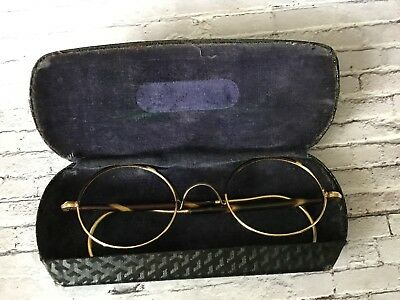 Vintage 1/10 algha gold filled tortoiseshell round spectacles 30s 40s