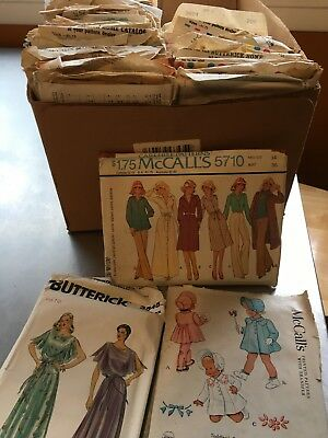 LOT OF 70+ MCCALLS/SIMPLICITY/BUTTERICK MISC. SEWING PATTERNS. Vintage 50's-70's