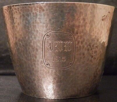 OLD ANTIQUE Arts and Crafts STERLING SILVER CUP 172 grams by WILLIAM KERR 1915