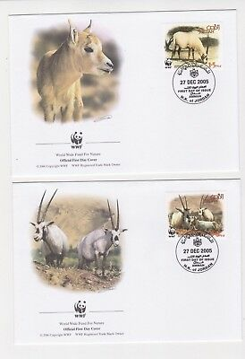 2005 Jordan WWF Endangered Species SG 2088/91 Set four FDC or Fine Used