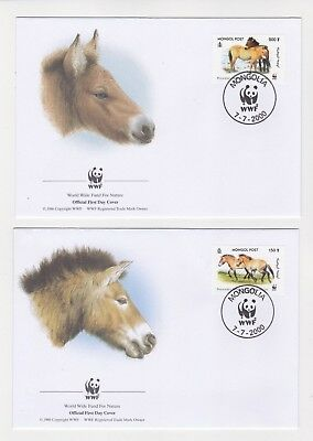 2000 Mongolia WWF Endangered Species SG 2857/60 Set four FDC or Fine Used