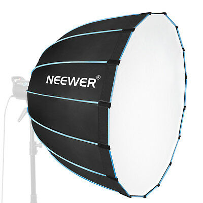 """Neewer 35"""" Dodecagon Softbox with Blue Rim and Bowens Mount for Flash Monolight"""