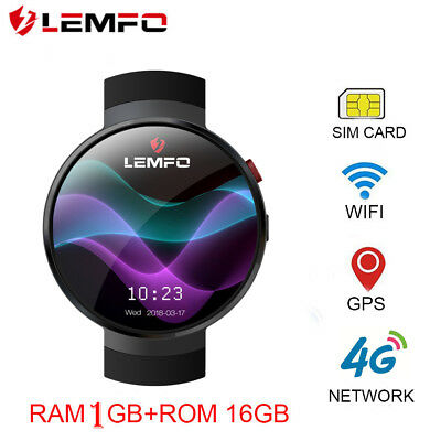 New LEMFO LEM7 Smart Watch 2018 Man Watch 4G WIFI GPS Heart Rate For Android IOS