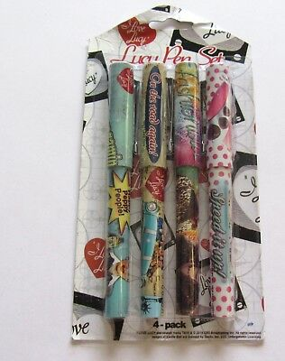 Set of four I LOVE LUCY pens- all different -chocolate factory- vitameatavegamin