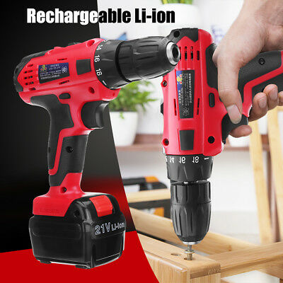 Electric Drill Bit Cordless Screw Driver Power Screwdriver LED Variable Speed