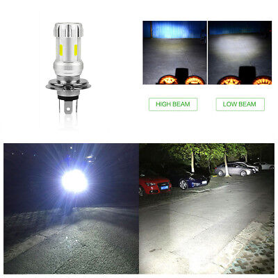 H4 LED Bulb 36W COB Chip 6000K 12V-80V White Motorcycle ATV Headlight Head Lamp