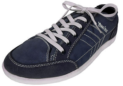 Denim Blue Casual Lace Up Casual Shoe Low-Top Mens Fashion Trainers Size UK 6-10