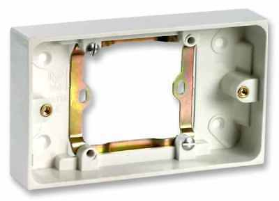 PRO ELEC Single to Double 13A Socket Converter Electric Surface Mounted Wall Box