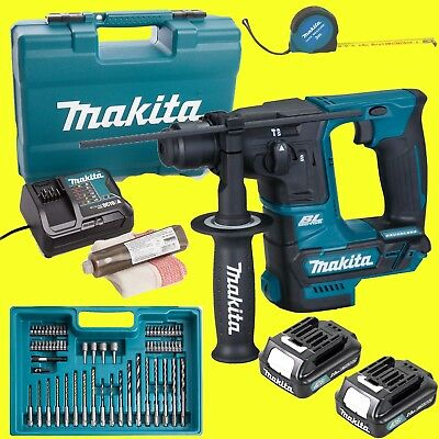 Makita Marteau-Perforateur sans Fil HR166DSAE1 avec 2x 2,0 Accus + Set
