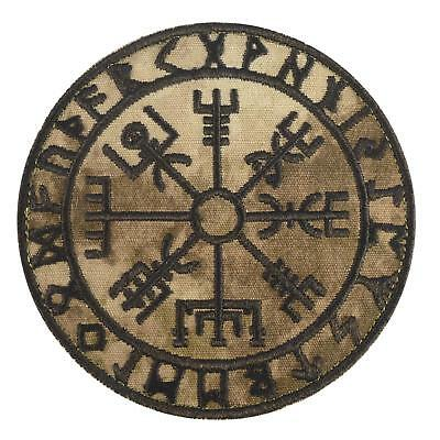 Vegvisir Viking Compass A-TACS AU arid embroidered tactical sew iron on patch