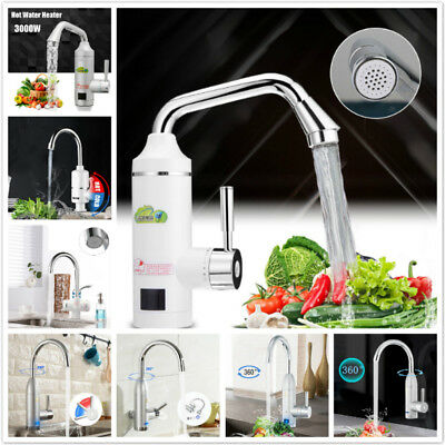 Kitchen Sink Wall Instant Electric Water Heater Fast Heating Faucet Hot Cold Tap