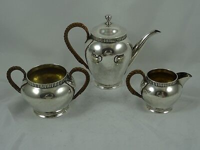 STUNNING , solid silver VICTORIAN `BACHELORS` TEA SET, 1891, 239gm
