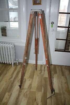 "Large Surveying Keuffel Esser Leveling Tripod Equipment Up To 60""  Heavy Duty"