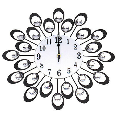 Large Hanging Wall Clock Round Sticker Watch Time 12 Hour Display Art Decoration