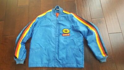 Vintage PENNZOIL Gas Station Attendant Jacket Circa 70s/Early 80s? w/patches