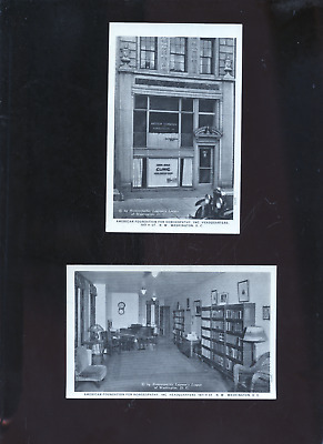 2 old homeopathic medicine postcards,American Foundation for Homeopathy