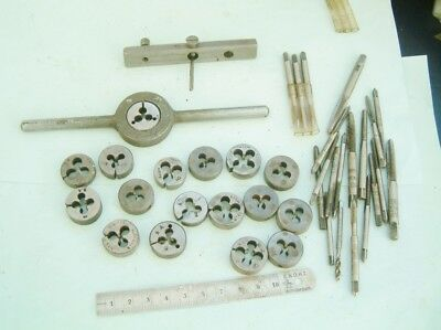 Clock maker Model Engineer myford Lathe taps And Dies nice big lot Steam engine