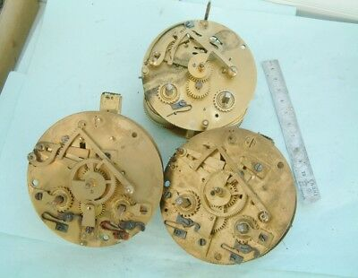 clock makers 3 Off French clock movements sold as parts Quality parts restorer