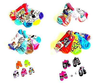 Girl's 5-Pairs No-Show Socks My Little Pony Frozen Monster High Princess  NWT