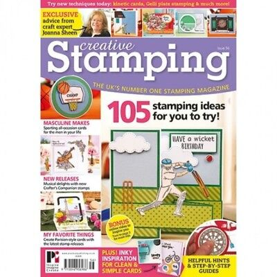 Creative Stamping Magazine Issue 56 With Free Sporting Joanna Sheen Stamps Set