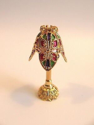 Dollhouse Asian 18K Gold Plated Brass Laughing Buddha Doll House Miniature