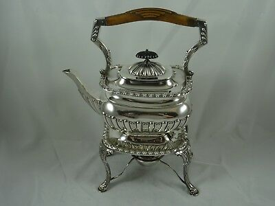 SMART, VICTORIAN , solid silver KETTLE ON STAND, 1898, 1049gm