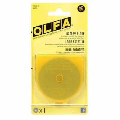 Olfa Rotary Blade RTY3 60 mm, Replacement Blade for OLFA 60mm Straight Handle