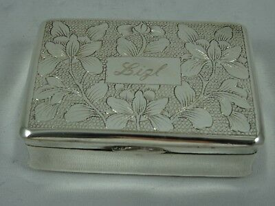 CHINESE EXPORT solid silver SNUFF BOX, c1880, 75gm
