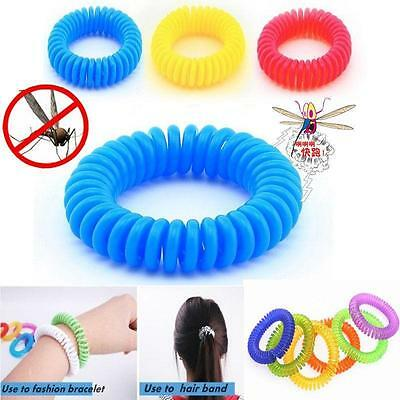 10X Anti Mosquito Bug Pest Repel Wrist Band Bracelet Insect Repellent Camping GA