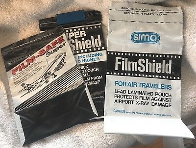 Two Sima and One Film-Safe Travel bags for rolls of Film double lead liners