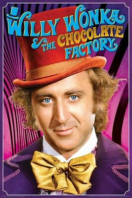 WILLY WONKA MOVIE POSTER, Size 24x36