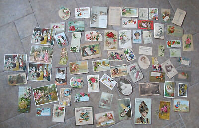 LOT of 60 - Antique Vintage ADVERTISING CARDS