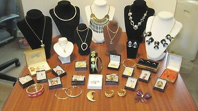 Large Lot Of 37 Pcs. Of Vintage Mostly Designer Jewelry From A Local Estate