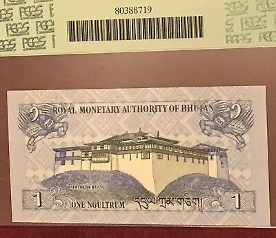 One GEM NEW Bhutan Kingdom 1 Ngultrum 2006 PM# 27 PCGS 65 Currency
