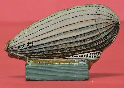Vtg Cracker Jack Dirigible Blimp Airship-Made In Germany-Cardboard & Wood