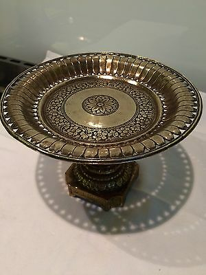 Miniature Antique  Ormolu French Tazza , Stand