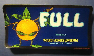 Wholesale Lot of 100 Old 1940's FULL Cartoon Orange Crate LABELS Waverly FLORIDA