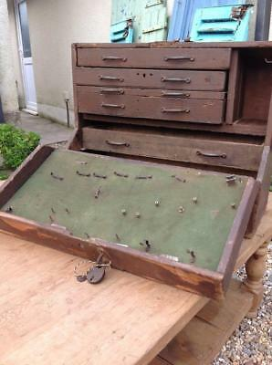 Vintage RAF Engineers Tool Cabinet 40s Work Box Secret Compartment With History