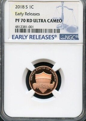 2018 S Lincoln Penny Early Releases NGC PF70 RD Ultra Cameo (BLUE)