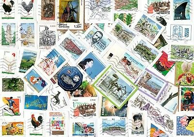 A Lovely Mix Of Mostly Recent Euro Commemorative Stamps From France