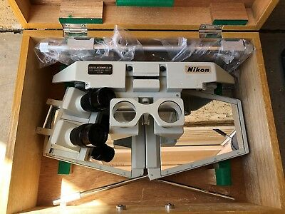 Vintage Nikon Stratex Stereoscope Aerial Map Viewer