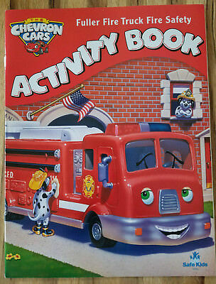 Chevron Cars Fuller Fire Truck #42 2008 Collectible Fire Safety Activity Book