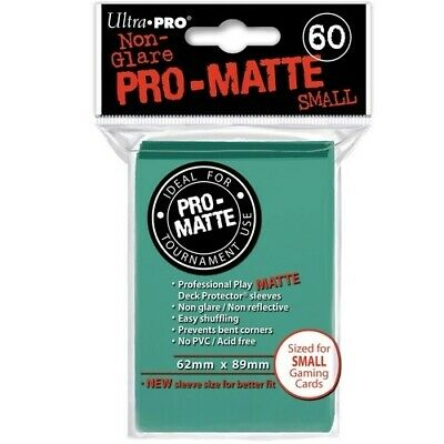 ULTRA PRO 60 PRO MATTE-SMALL SIZE AQUA DECK PROTECTOR SLEEVES 84152 fit YuGiOh