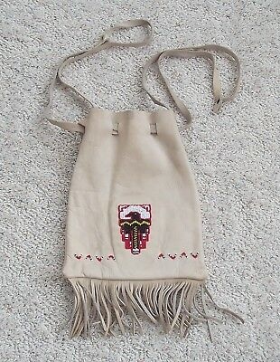 Mountain Man / Trapper Rendezvous Reenactment Leather Bag with Bead Work