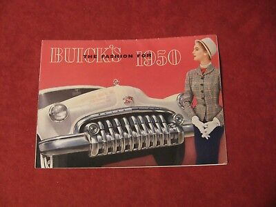 1950 Buick Dealer Salesman Dealership Brochure Original Booklet Catalog Old